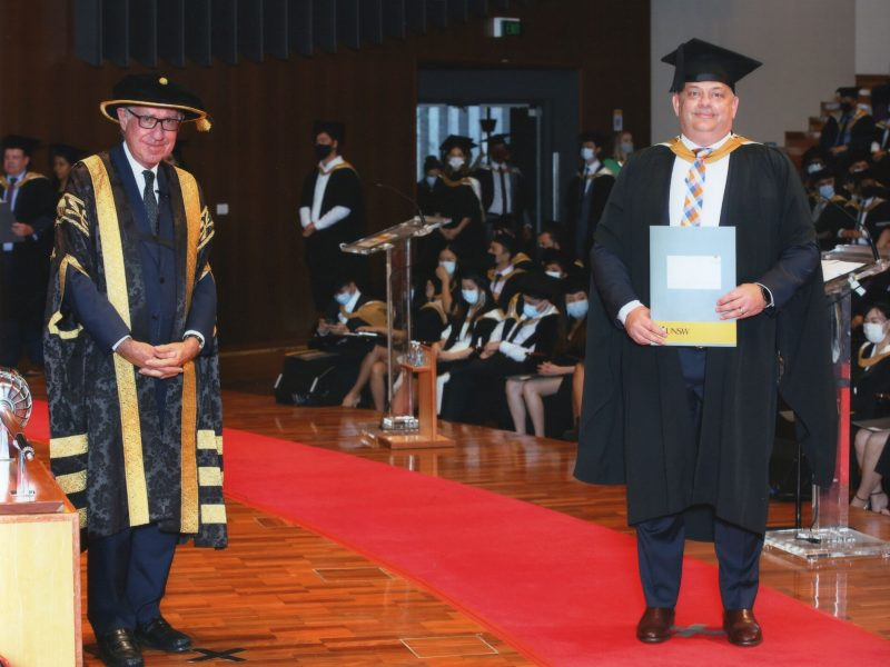 Nathan Groenhout receives his Executive MBA
